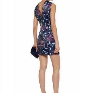 Versace printed duchesse mini dress